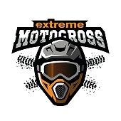 Extreme motocross symbol.