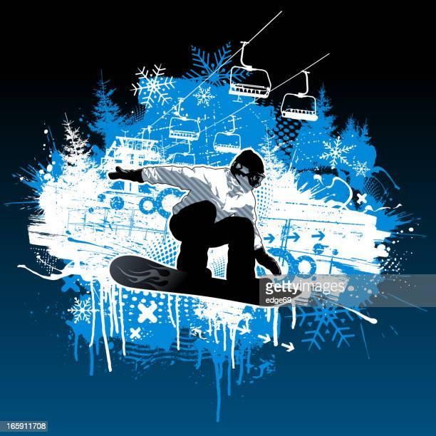 Extreme Snowboarding Grunge Design
