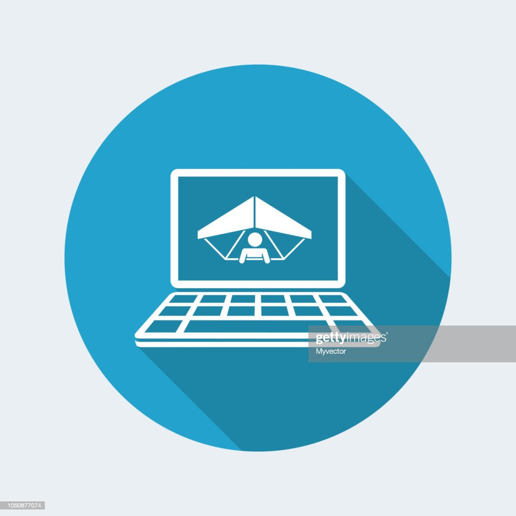 Extreme sport website - Vector flat icon