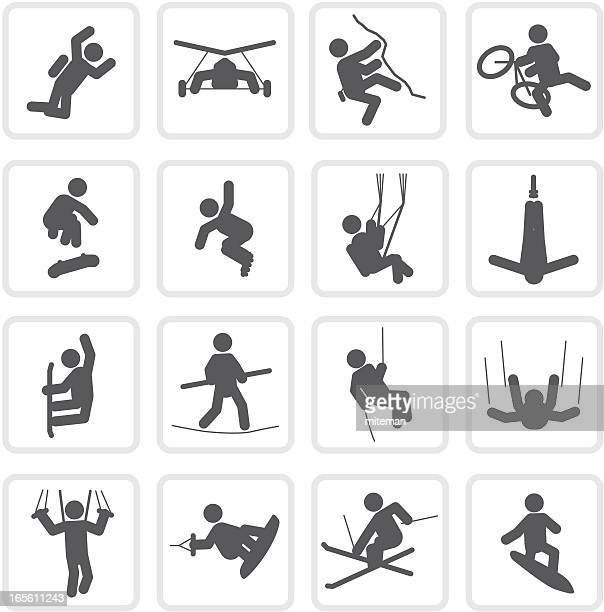 extreme sports | raw collection - rock climbing stock illustrations, clip art, cartoons, & icons