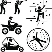 Extreme Tough Game for Man Pictogram