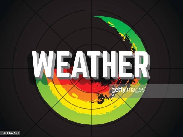 extreme weather radar - weather stock illustrations