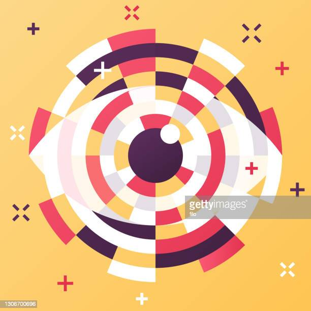 eye abstract modern technology artificial intelligence - eye scanner stock illustrations