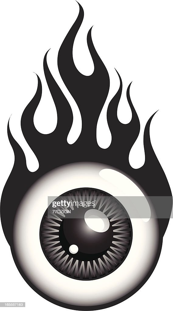 eye ball flames