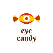 Eye candy fun symbol concept