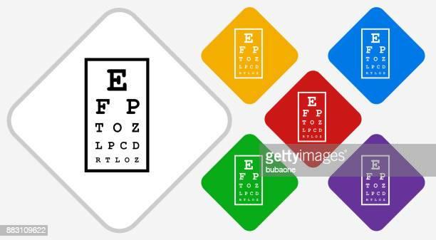 ilustrações, clipart, desenhos animados e ícones de ícone de vetor gráfico de olho cor diamante - exame de vista exame médico