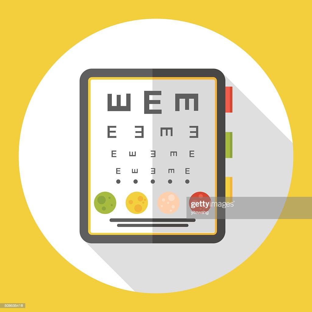 Eye Chart Flat Icon Vector Art Getty Images
