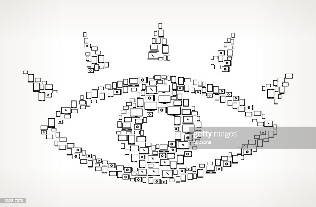 Eye Digital Screen and Smart-phone royalty free vector art : stock illustration