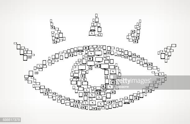 Eye Digital Screen and Smart-phone royalty free vector art