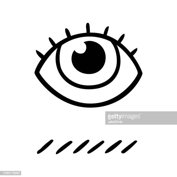eye doodle black and white - hypnosis stock illustrations