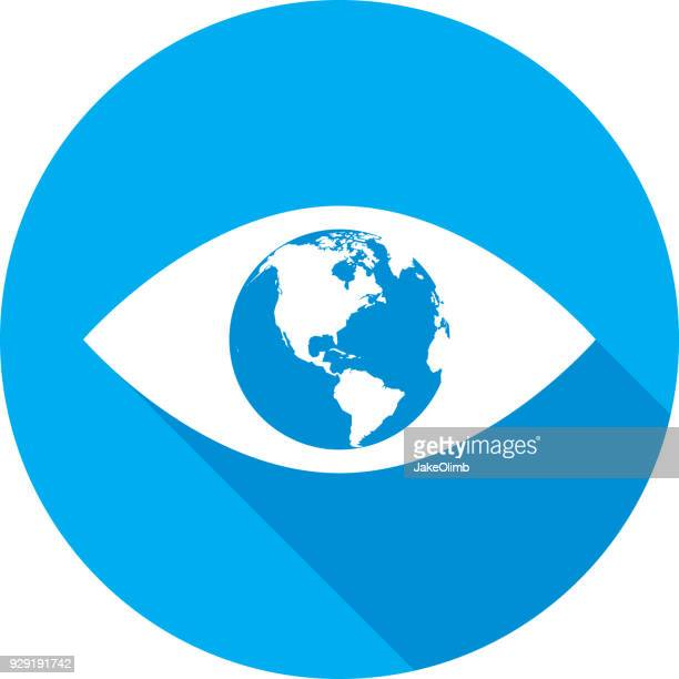 Eye Earth Icon Silhouette 2