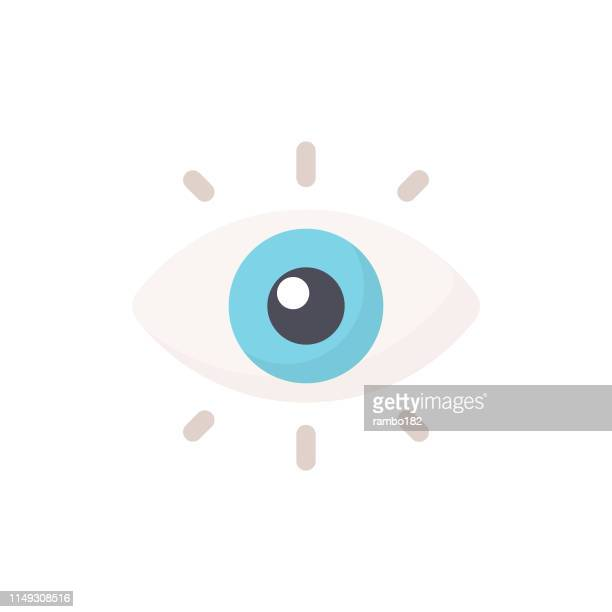eye flat icon. pixel perfect. for mobile and web. - eye stock illustrations