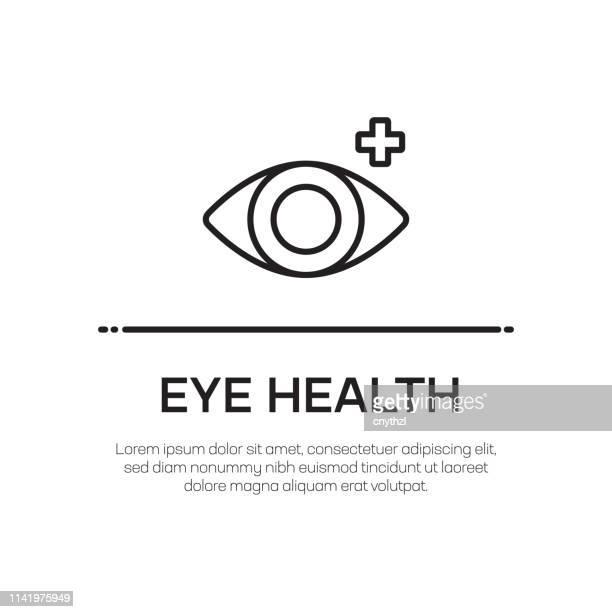 目の健康ベクトルラインアイコン-シンプルな細い線のアイコン、プレミアム品質のデザイン要素 - 検眼医点のイラスト素材/クリップアート素材/マンガ素材/アイコン素材