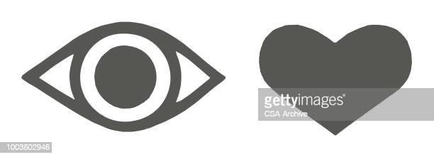 目の中心 - heart shape点のイラスト素材/クリップアート素材/マンガ素材/アイコン素材