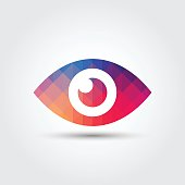 Eye icon, Colorful geometric style