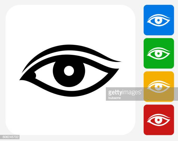 Auge-Symbol flache Grafik Design