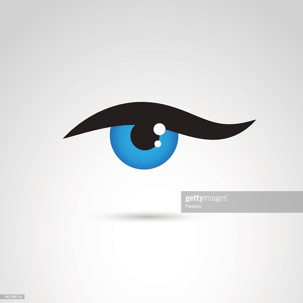 Eye icon isolated on white background.