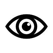 Eye icon logo. Look and Vision icons. Vector