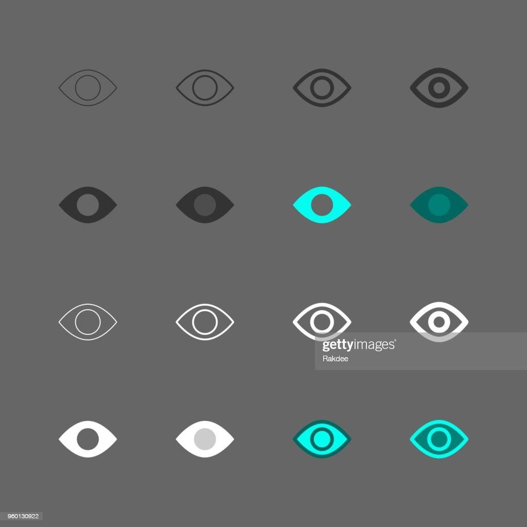 Augen-Symbol - Multi Serie : Stock-Illustration