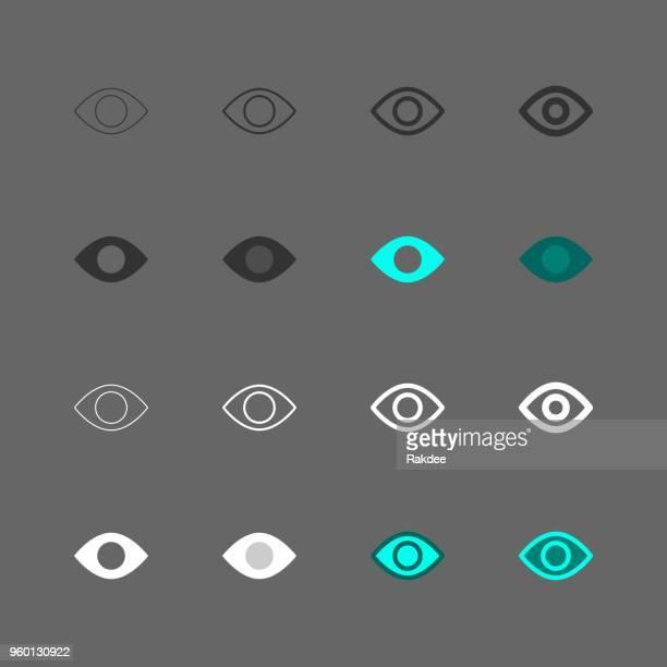illustrazioni stock, clip art, cartoni animati e icone di tendenza di icona occhi - serie multi - guardare il paesaggio