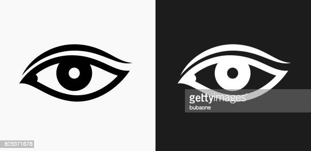 Eye Icon on Black and White Vector Backgrounds