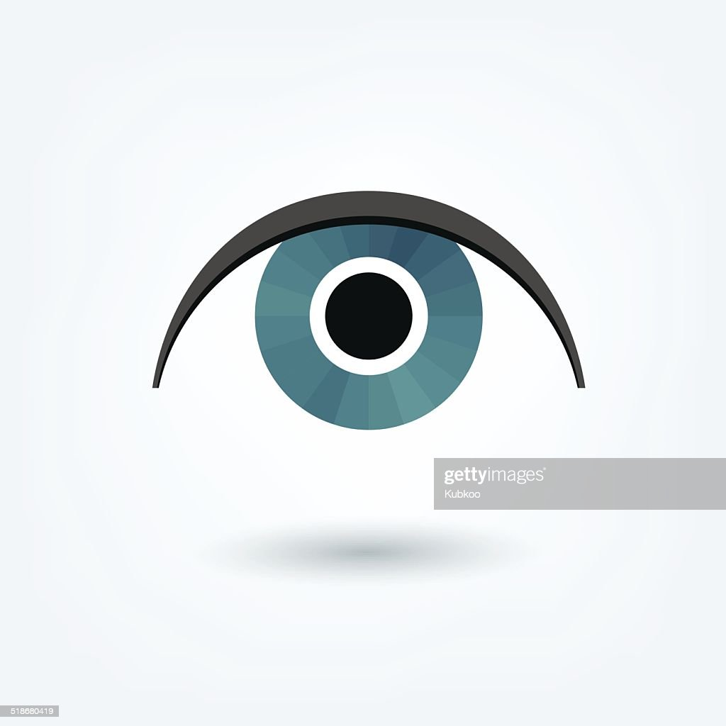 Eye icon sign. Vector shape.