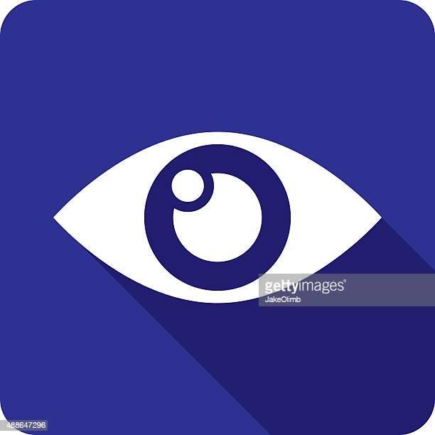 eye icon silhouette - blink stock illustrations, clip art, cartoons, & icons