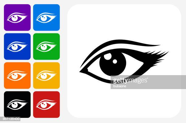 Eye Icon Square Button Set