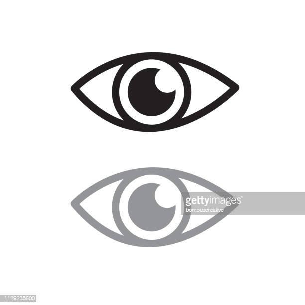 illustrazioni stock, clip art, cartoni animati e icone di tendenza di icona dell'occhio - guardare il paesaggio