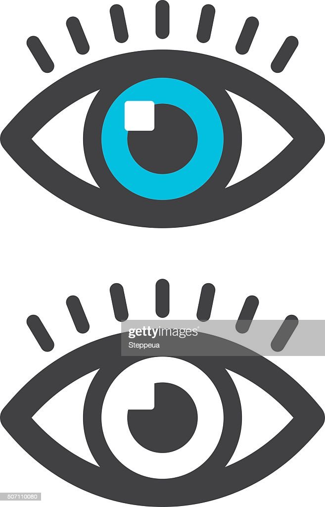 Eye icon : stock illustration