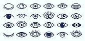 Eye icons collection