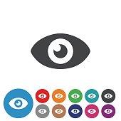 Eye Icons Set - Graphic Icon Series