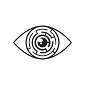 Eye maze icon