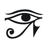 Eye of Horus icon, simple style