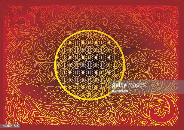 eye of the dragon and a flower of life