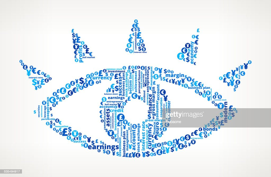 Eye on Business and Finance Word Cloud : stock illustration
