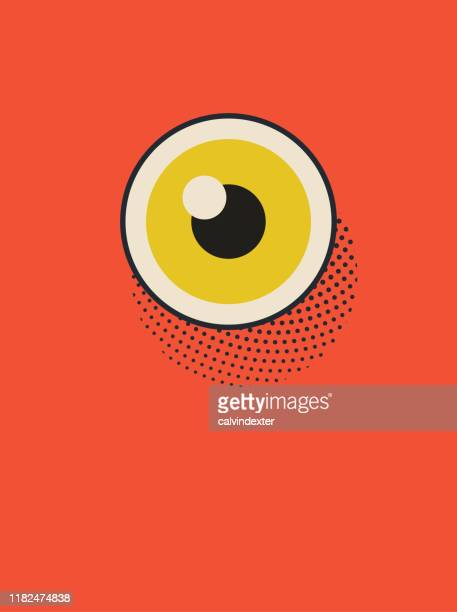 eye poster illustration - landing page stock illustrations