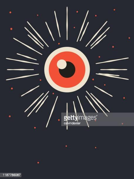 eye poster illustration - human eye stock illustrations