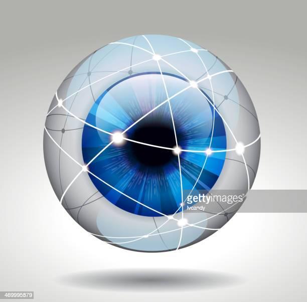 eye protection - magic eye stock illustrations
