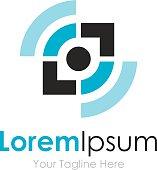 Eye sight start up element icons business logo