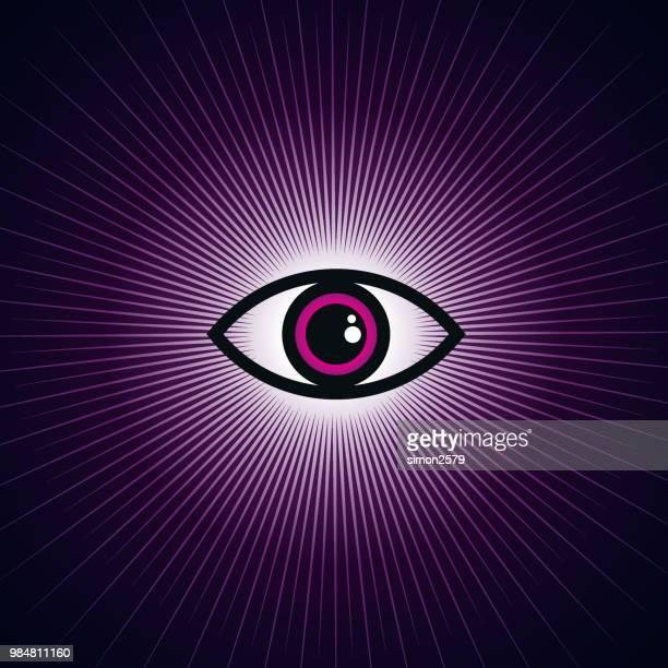 eye symbol abstract illustration - blink stock illustrations, clip art, cartoons, & icons