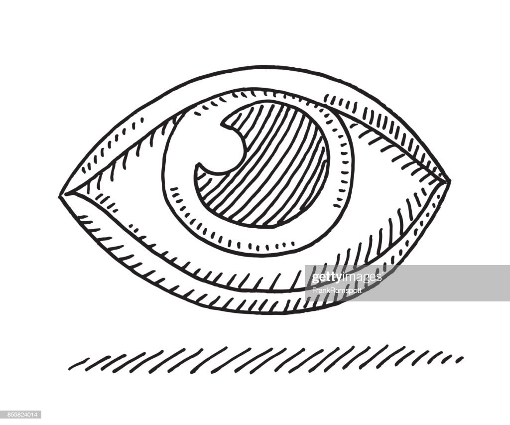 eye symbol drawing vector art getty images