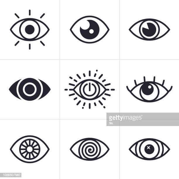 ilustrações, clipart, desenhos animados e ícones de símbolos de olho - olho