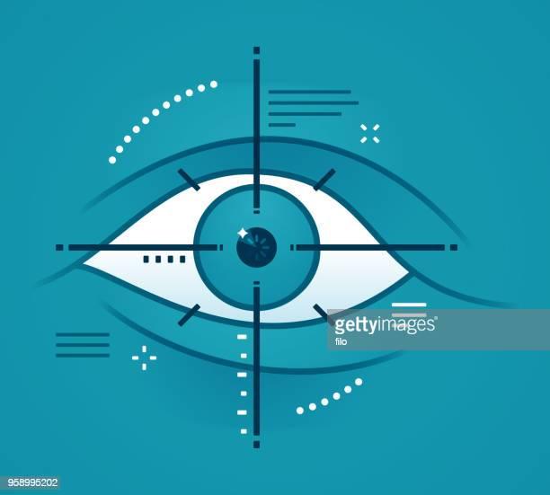 Eye Target Scanning Biometric Technology