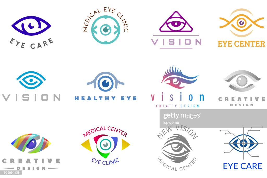 Eye vector eyeball icon eyes look vision and eyelashes logotype of medical care optic company supervision illustration isolated on white background