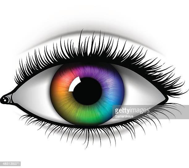 eye  - nahaufnahme stock-grafiken, -clipart, -cartoons und -symbole
