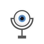 Eye Webcam. Vector Illustration