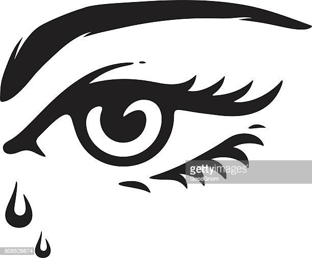 ilustrações, clipart, desenhos animados e ícones de olhos com lágrimas - sobrancelha