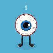 Eyeball Character Bloodshot