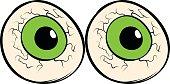 Eyeballs icon cartoon